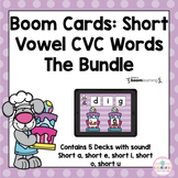CVC Words Bunny Baking Bundle | Boom Cards™ | Distance learning