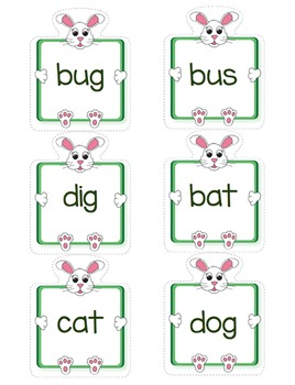 CVC Words - Bunny Match