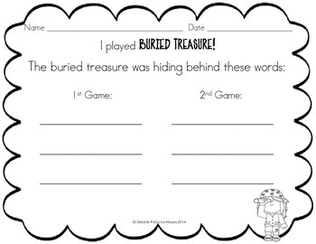 """CVC Words: """"Buried Treasure!"""" Game - Short A Words Edition (CCSS)"""