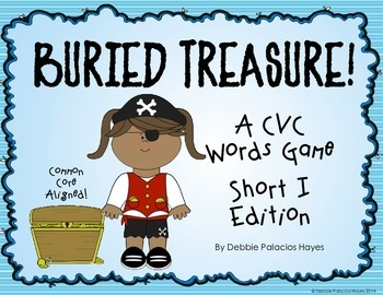 """CVC Words: """"Buried Treasure!"""" Game - Short I Words Edition (CCSS)"""