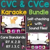 CVC Words & CVCe Words Distance Learning Boom Cards Bundle