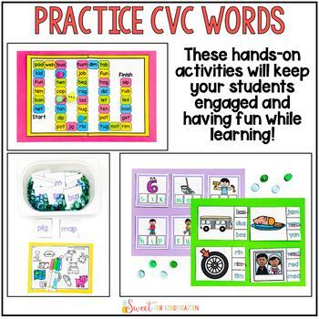 CVC Words Center Activities