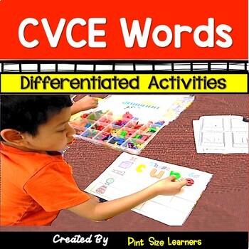 CVCE Words Center Activities Games and Worksheets #harvestdeals