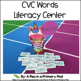 CVC Words Center (Hungry, Hungry Short Vowel Words)