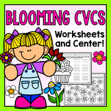 CVC Words Center and Printables