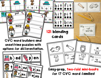 CVC Words Centers and Activities