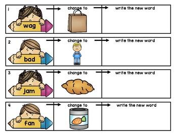 CVC Words - Change the Letter