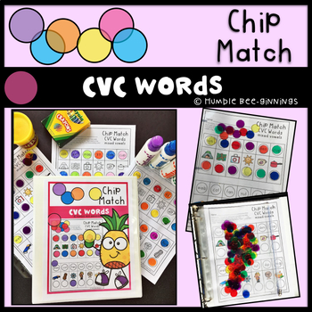 Kindergarten CVC Words Chip Match