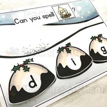 CVC Words Christmas Pudding Spelling