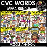 CVC Words Clip Art Mega Bundle {Educlips Clipart}