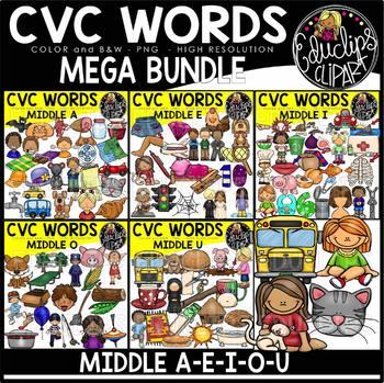 CVC Words Clip Art Mega Bundle