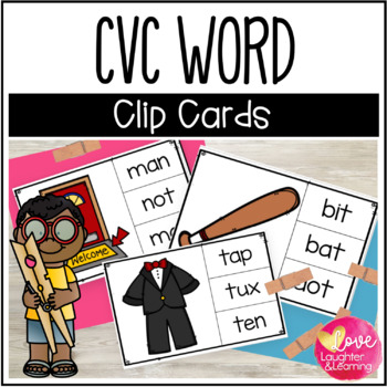 #betterthanchocolate CVC Word Clip Cards!