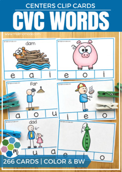 CVC Words Clip Cards
