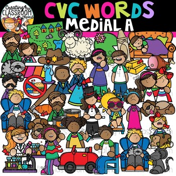 CVC Words Clipart- Medial A Words {CVC Words Clipart}