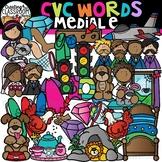 CVC Words Clipart- Medial E Words {CVC Words Clipart}