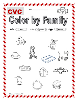 Color by Family: CVC Word Family (Short Vowel)