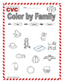 Color by Family: CVC Word Family (Short Vowel)- Foundational Skills