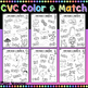 CVC Words Color & Match, Color To Match The Word And Picture Pairs