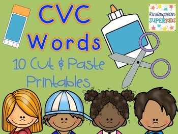 CVC Words: Cut & Paste Printables
