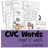 """CVC Words Cut & Paste Booklet - Short """"o"""" vowel"""