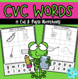 CVC Words - Cut & Paste Worksheet