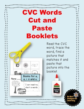 CVC Words Cut and Paste Booklets