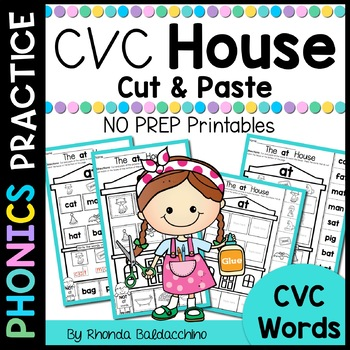CVC Words Cut and Paste House