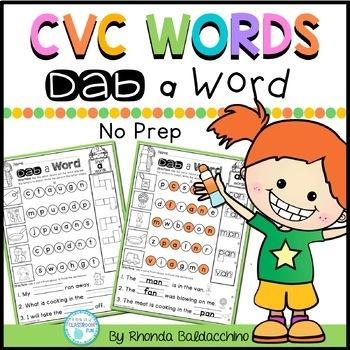 CVC Words ~ Dab a Word