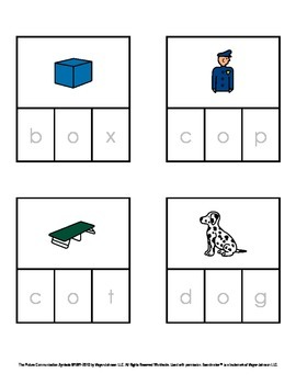 CVC Words - Decodable Words with Pictures (Short O)