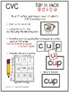 CVC Words Decoding Pack {Tap-Build-Write-Read}