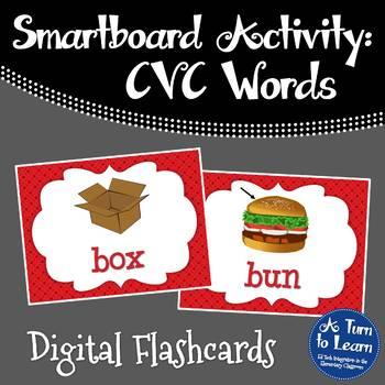 CVC Words: Digital Flashcards (Smartboard/Promethean Board)