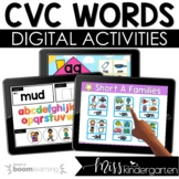 CVC Boom Cards™ Digital Task Cards for Distance Learning