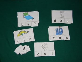 CVC Words Ending Sounds Literacy Center, Classroom Resource tool- hard good