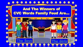 CVC Words Family Feud Bundle