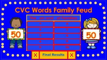 CVC Words Family Feud Bundle
