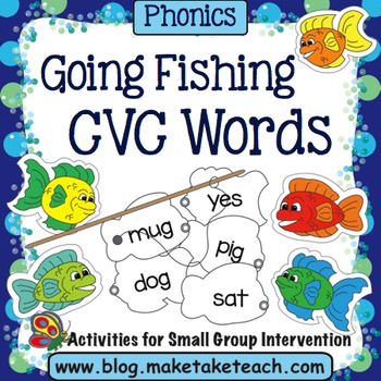 CVC Words - Fishing For Consonant-Vowel-Consonant Words