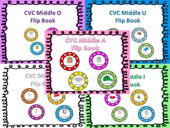 CVC Words Flip Book Bundle (Save $3.50 for bundle purchase!)