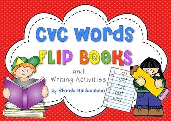 CVC Words Flip Books and Writing Activities