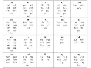 CVC Words Folder