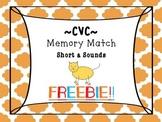 CVC Words: Free Short a Memory Match