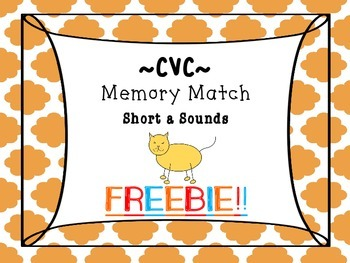 CVC Words: Free Short a Memory Match