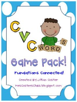 CVC Words GAME PACK!!