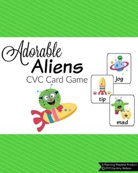 CVC Words Game - Adorable Aliens