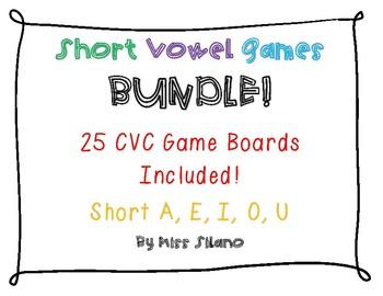 CVC Words Game Boards BUNDLE!