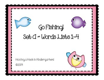 CVC Words: Go Fishing! Set A - Lists 1-4