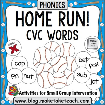 CVC Words - Home Run!
