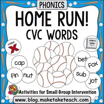 CVC Words - Home Run!