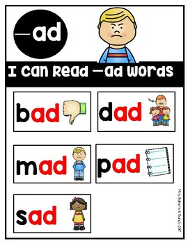 CVC Words ~ I Can Read CVC Words