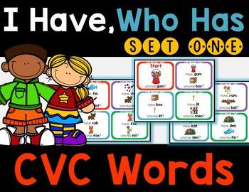 CVC Words - I Have, Who Has