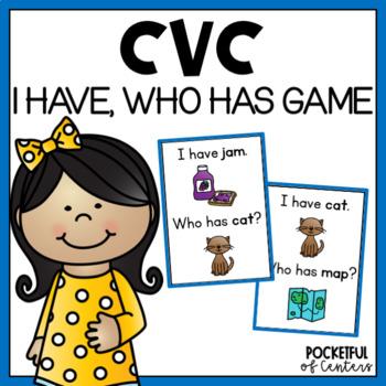 CVC Words I Have, Who Has